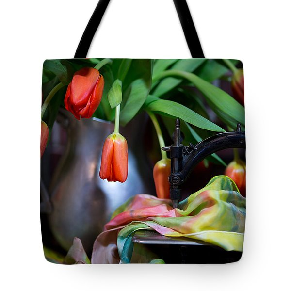 Tote Bag featuring the photograph Tulips by Sharon Jones