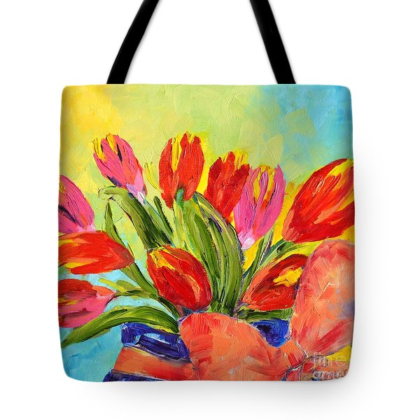 Tulips Tied Up Tote Bag