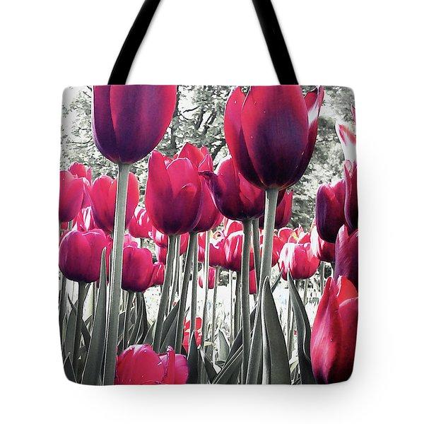 Tulips Tinted Tote Bag
