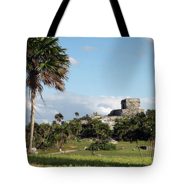 Tote Bag featuring the photograph Tulum Mexico by Dianne Levy
