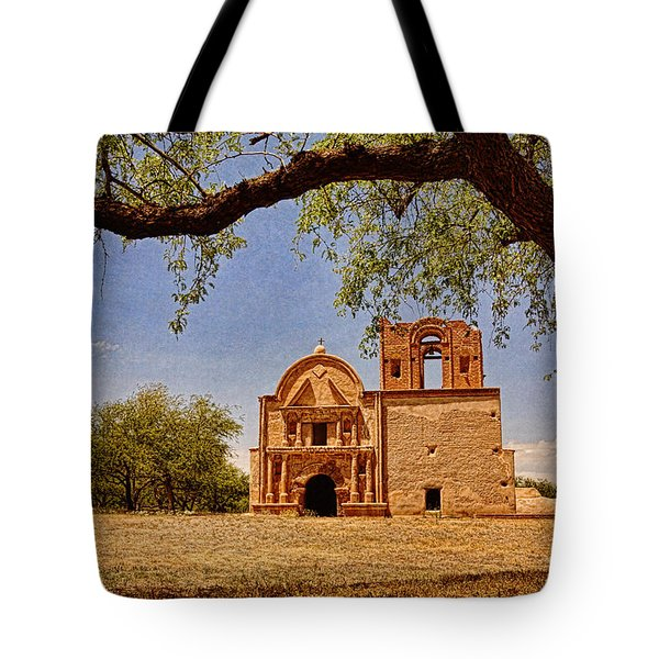 Tumacacori Mission Text Tote Bag