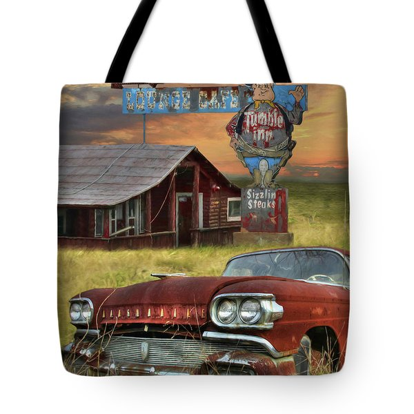 Tote Bag featuring the photograph Tumble Inn by Lori Deiter