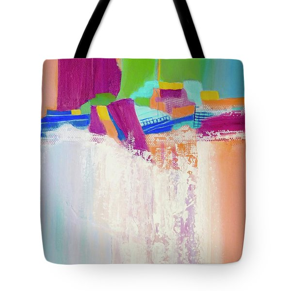 Tote Bag featuring the painting Tumbling Waters by Irene Hurdle