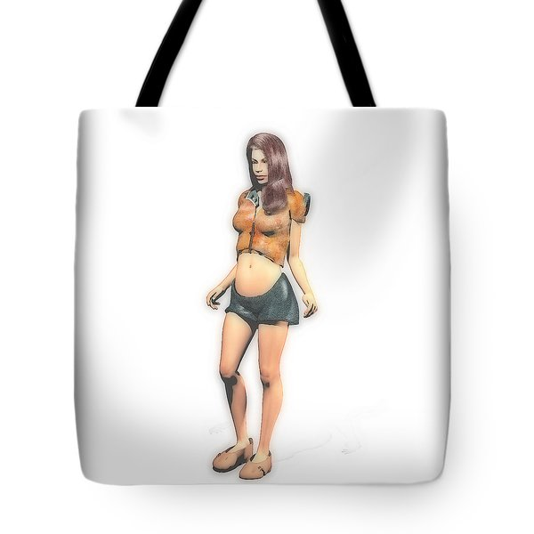 Tummy Girl Tote Bag
