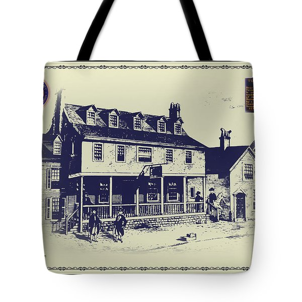 Tun Tavern - Birthplace Of The Marine Corps Tote Bag by Bill Cannon