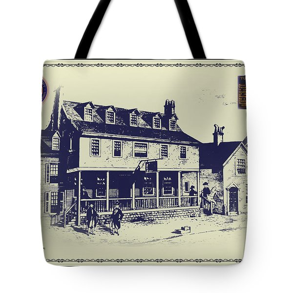 Tun Tavern - Birthplace Of The Marine Corps Tote Bag
