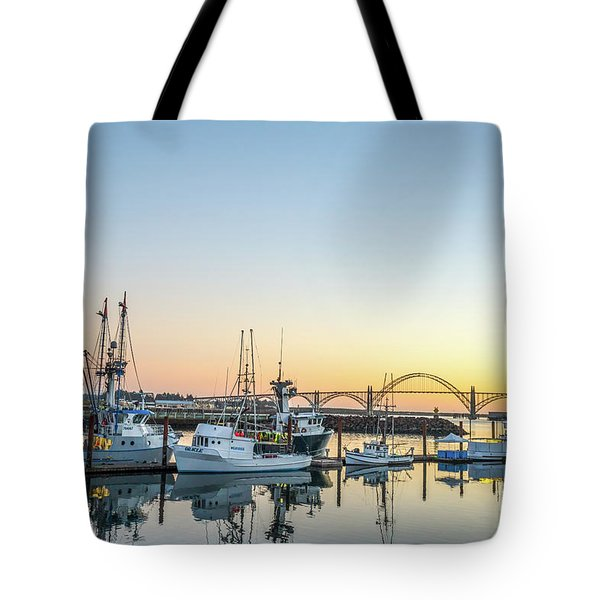 Tuna Boats Resting For The Night Tote Bag