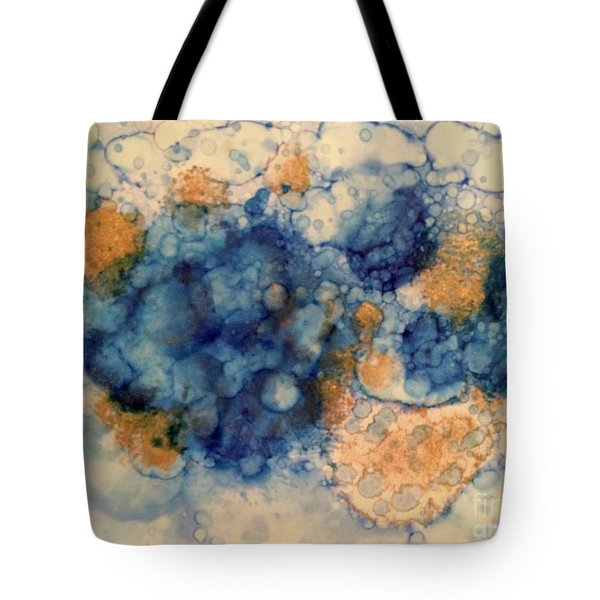 Tote Bag featuring the painting Tundra by Denise Tomasura