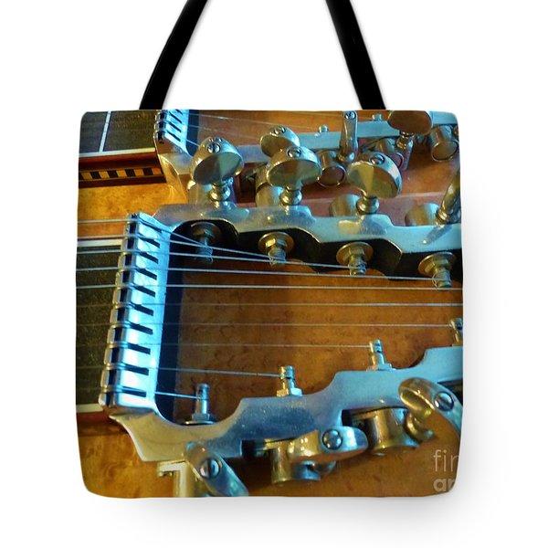 Tuning Pegs On Sho-bud Pedal Steel Guitar Tote Bag