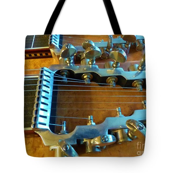 Tuning Pegs On Sho-bud Pedal Steel Guitar Tote Bag