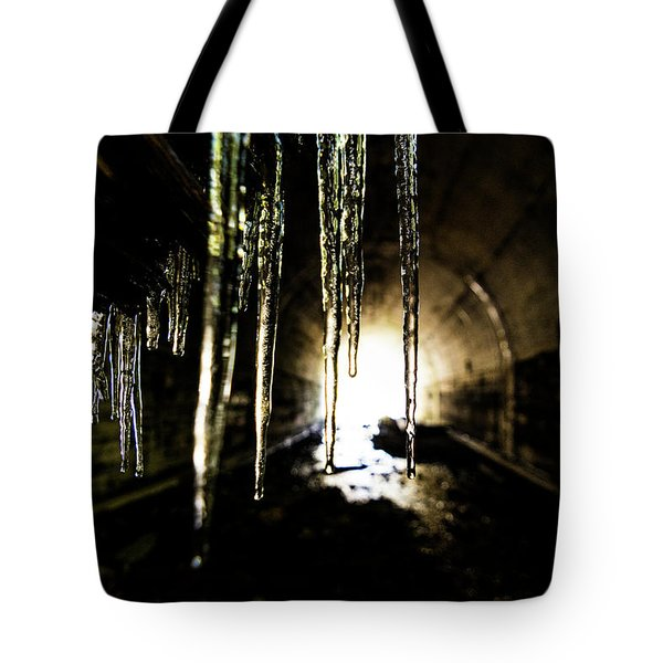 Tunnel Icicles Tote Bag