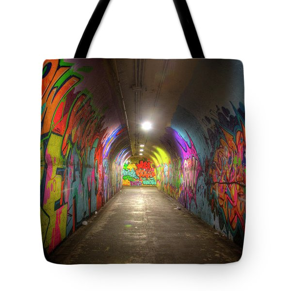 Tunnel Of Graffiti Tote Bag by Mark Andrew Thomas