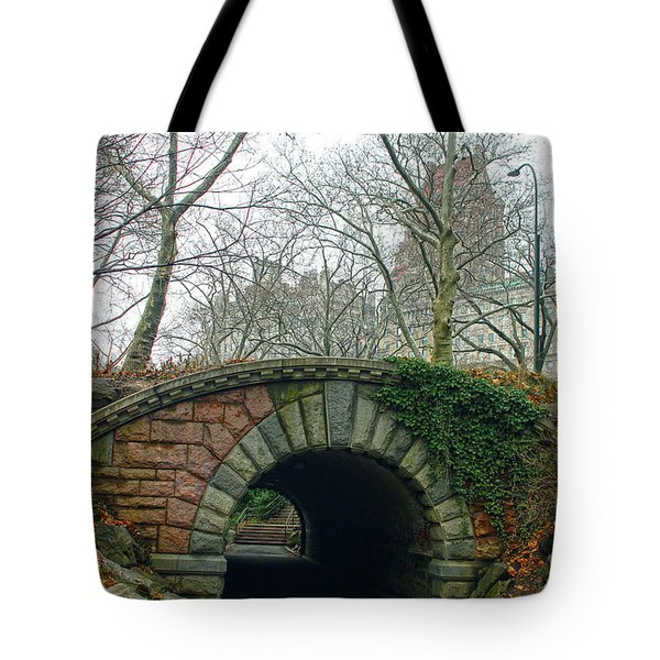 Tunnel On Pathway Tote Bag by Sandy Moulder