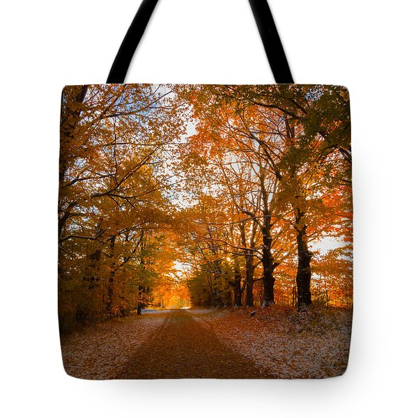Tunnel Through Morning Backlight Tote Bag