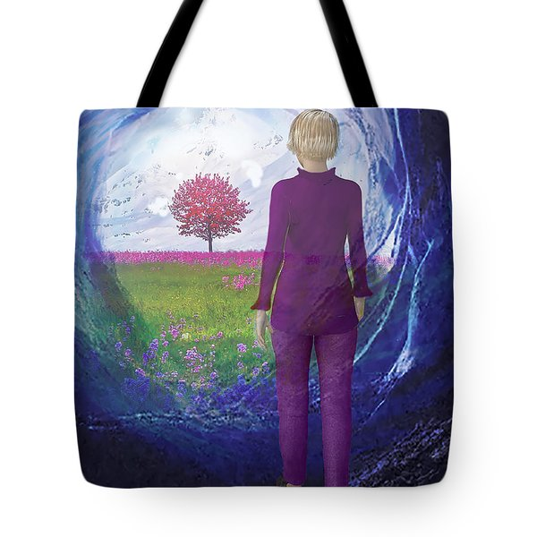 Tunnel To Eternal Life Tote Bag