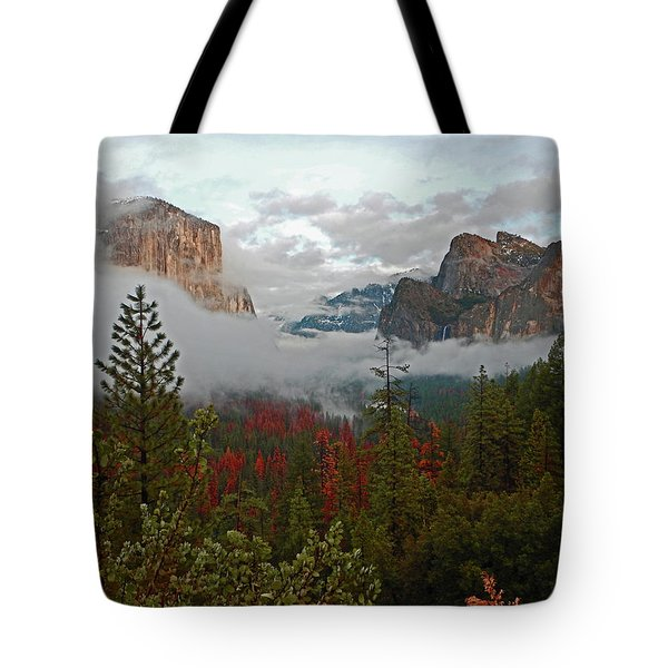 Tote Bag featuring the photograph Tunnel View 12 2016 by Walter Fahmy