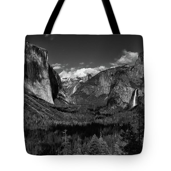 Tunnel View Black And White  Tote Bag
