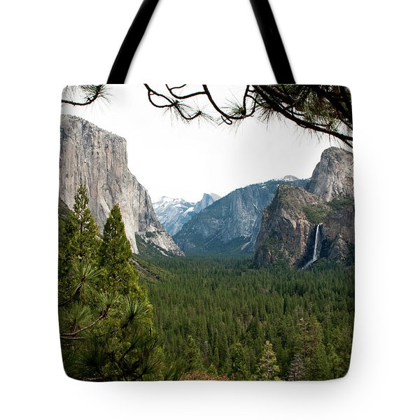 Tunnel View Framed Tote Bag