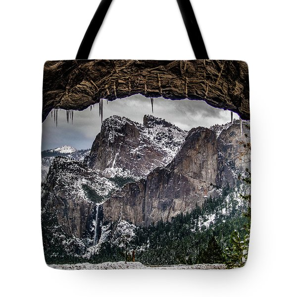 Tote Bag featuring the photograph Tunnel View From The Tunnel by Bill Gallagher