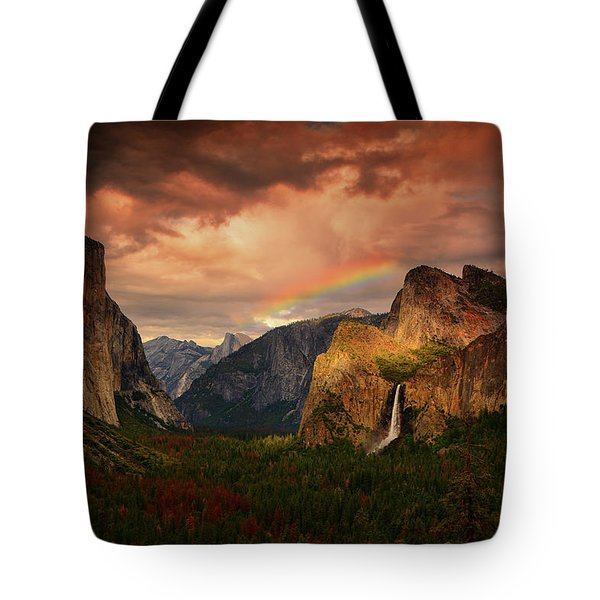 Tunnel View Rainbow Tote Bag