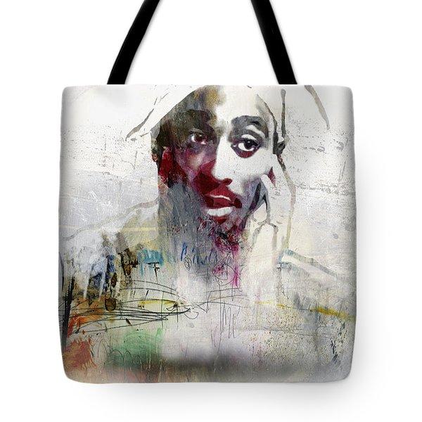 Tupac Graffitti 2656 Tote Bag by Jani Heinonen