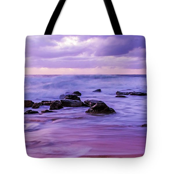 Turbulent Daybreak Seascape Tote Bag