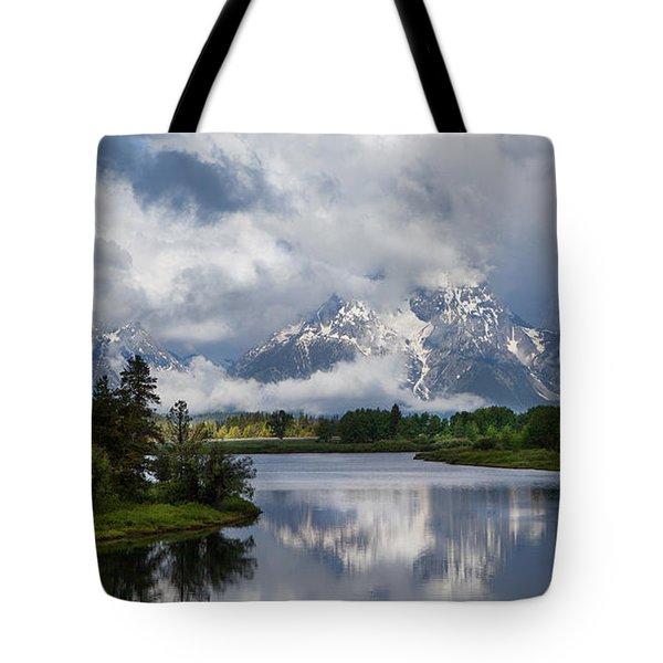 Turbulent Tetons Tote Bag