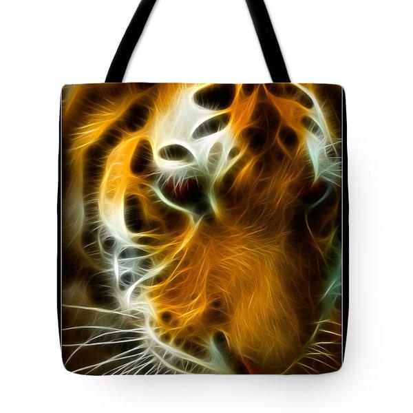 Turbulent Tiger Tote Bag