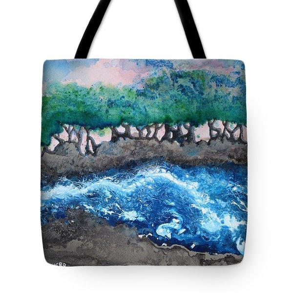 Turbulent Waters Tote Bag