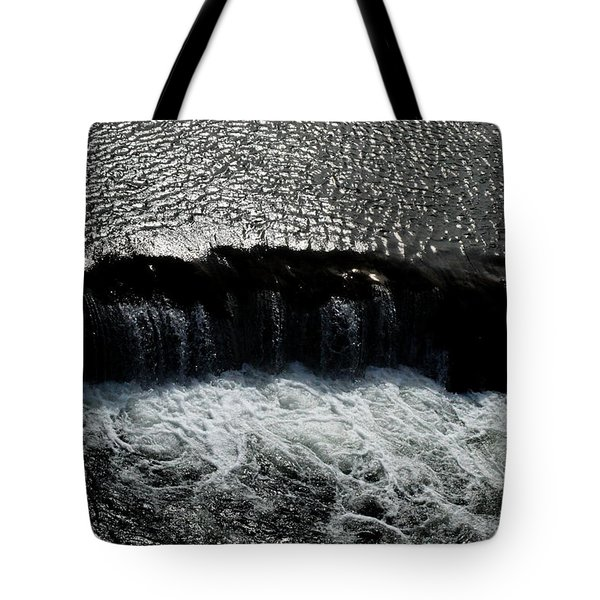 Tote Bag featuring the photograph Turbulent Water by W And F Kreations