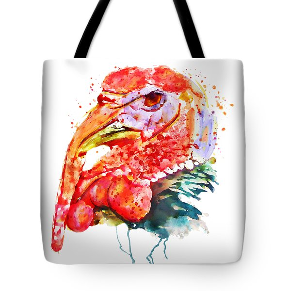 Turkey Head Tote Bag by Marian Voicu