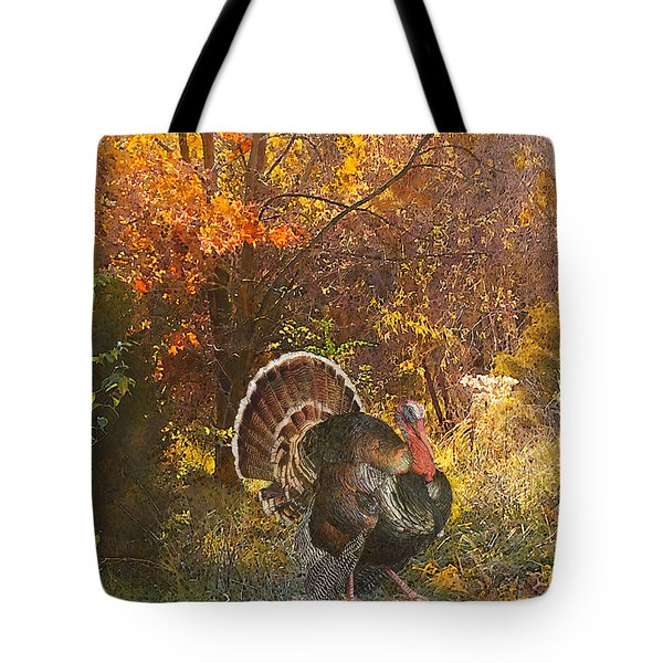 Turkey In The Woods Tote Bag