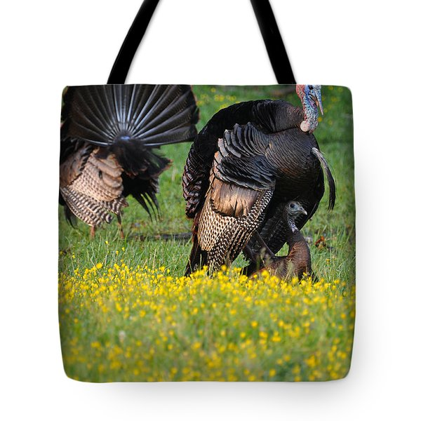 Turkey Love Tote Bag by Todd Hostetter
