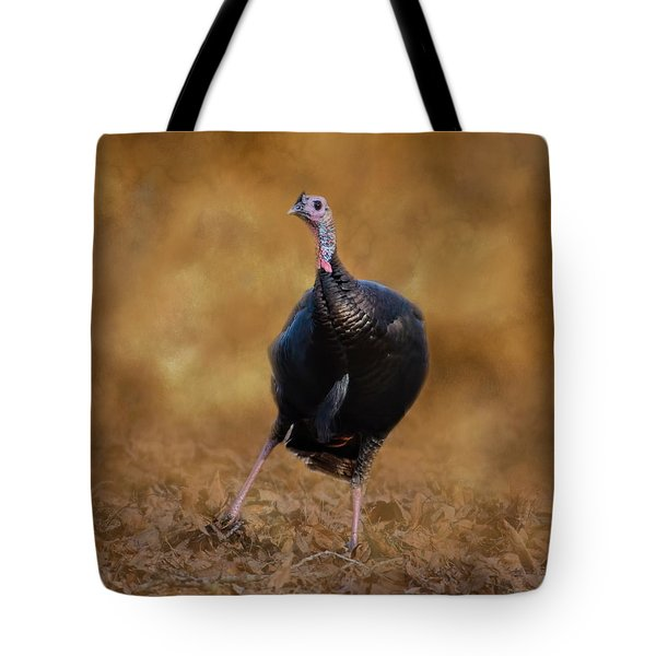 Turkey Trot Tote Bag by Jai Johnson