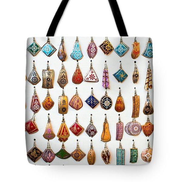 Turkish Earrings Tote Bag