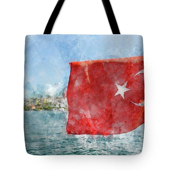 Turkish Flag Tote Bag