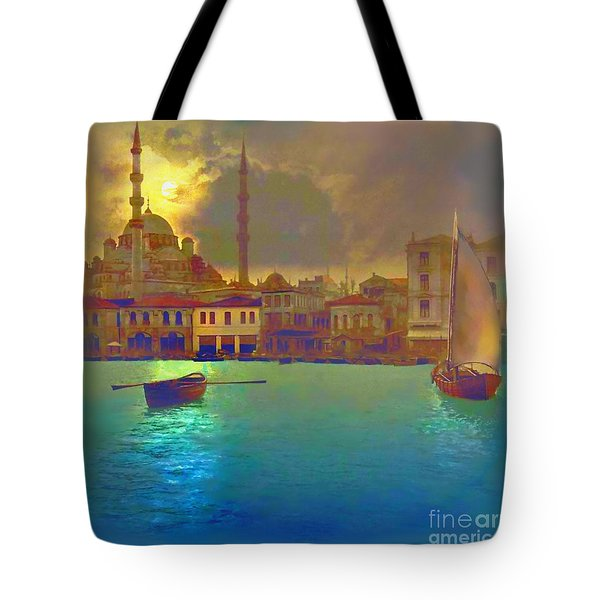 Turkish  Moonlight Tote Bag