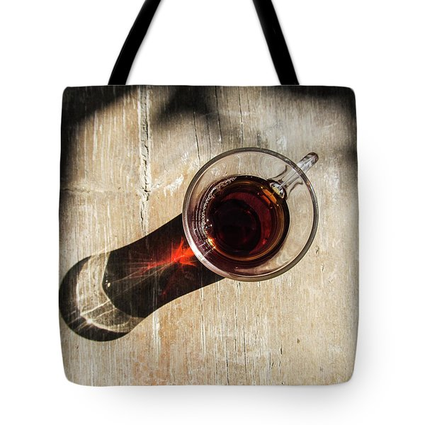 Turkish Tea On A Wooden Table Tote Bag