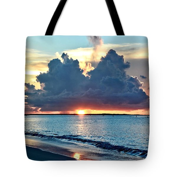 Turks And Caicos Grace Bay Beach Sunset Tote Bag