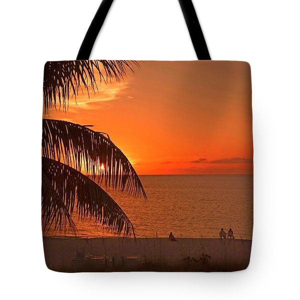 Turks And Caicos Sunset Tote Bag by Stephen Anderson