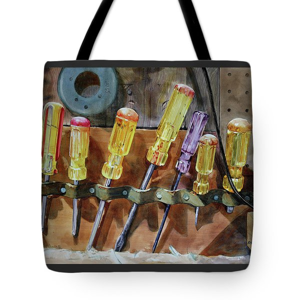 Tote Bag featuring the painting Turn, Turn, Turn by Kris Parins