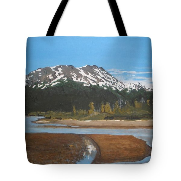 Tote Bag featuring the painting Turnagain Arm Alaska by Betty-Anne McDonald
