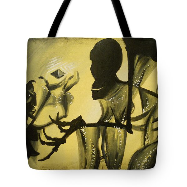 Turned It Thrice In His Hand Tote Bag by Lisa Leeman