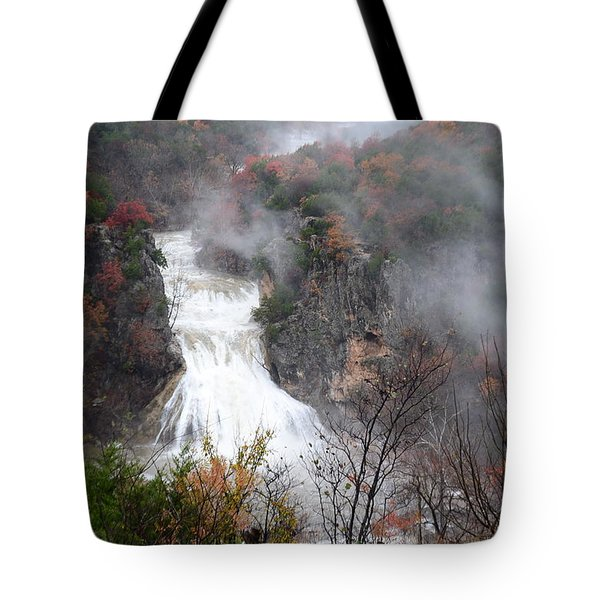 Turner Falls And Steam Tote Bag