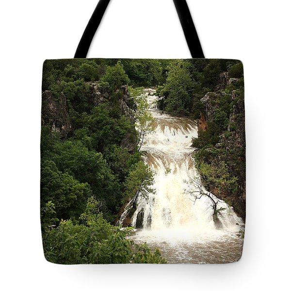 Turner Falls Waterfall Tote Bag