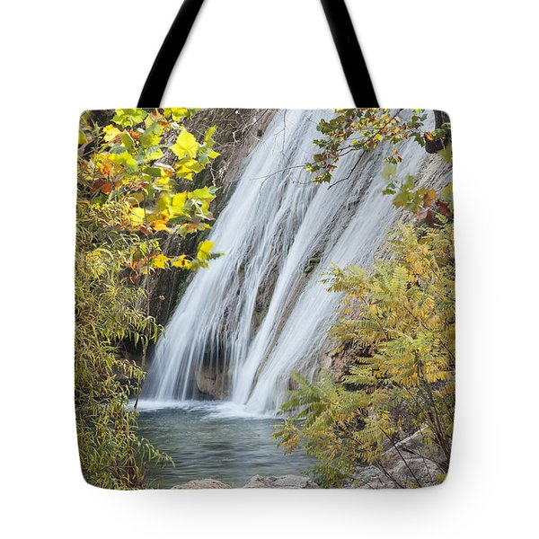 Turner Falls In The Morning Fall Tote Bag