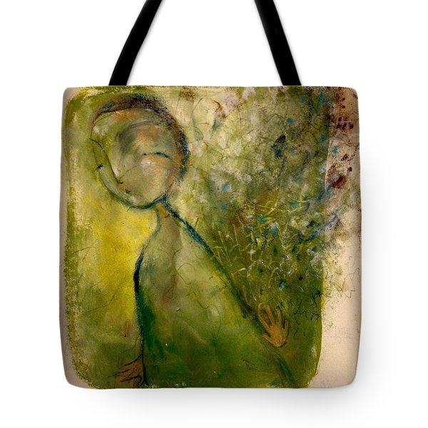 Turning Away Tote Bag