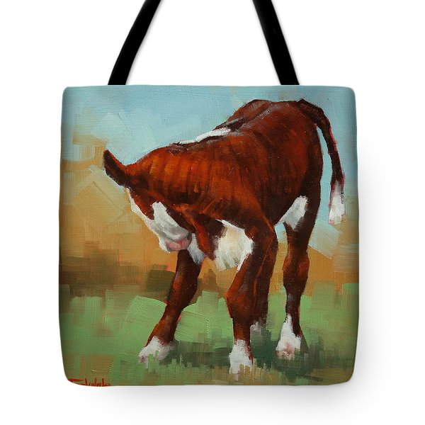 Turning Calf Tote Bag by Margaret Stockdale