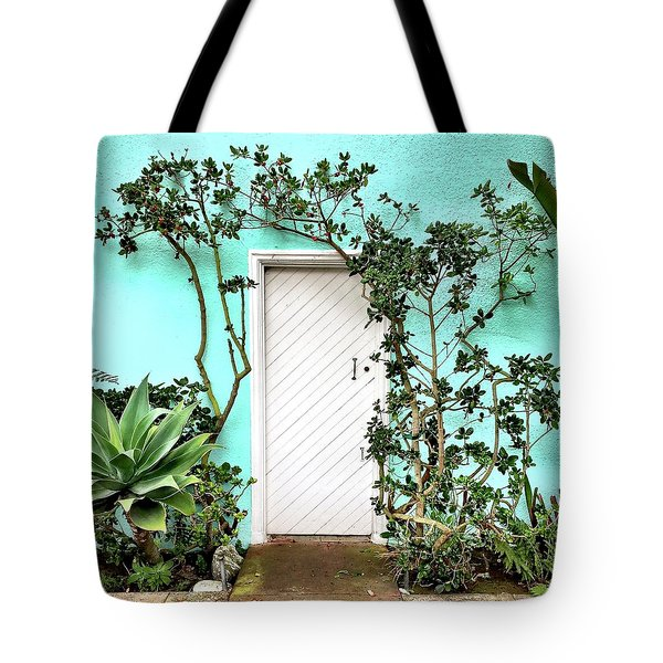 Turqoiuse Wall Tote Bag by Julie Gebhardt