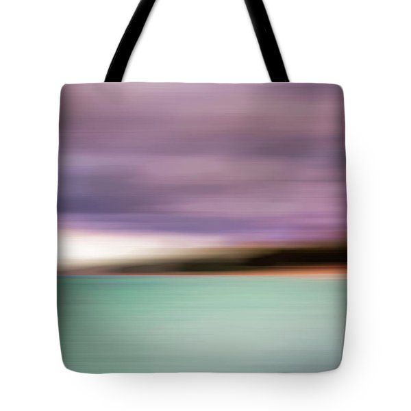 Tote Bag featuring the photograph Turquoise Waters Blurred Abstract by Adam Romanowicz